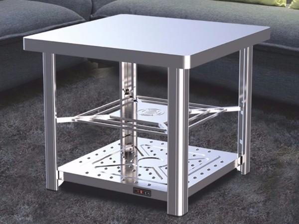 【经典不锈钢3代】电暖方桌-拉丝亚光