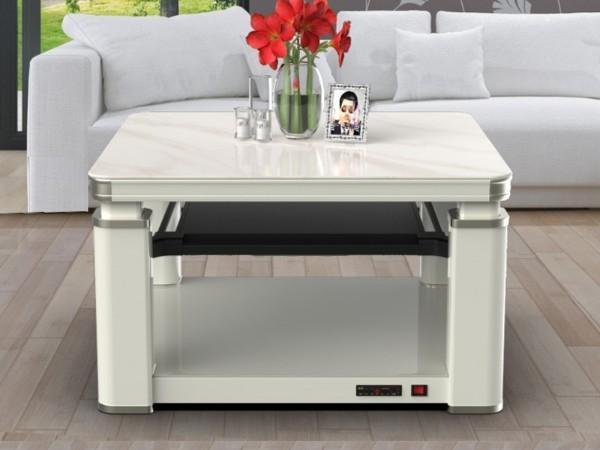 【家家福5代】智能声控电暖升降方桌-玉砂浮雕
