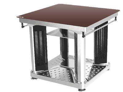 【惠炬】2号智能电暖方桌-深咖啡